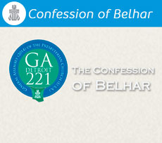 The Confession of Belhar with GA221 seal